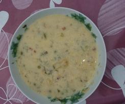 Zupa kalfiorowa z groszkiem