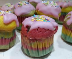 Kolorowe muffinki / babeczki