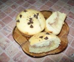 Muffin z gruszkami i czekolada
