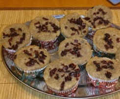 Muffinki cynamonowe z żurawiną