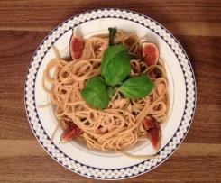 Aromatyczne spaghetti z kurczakiem i pieczarkami