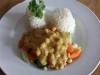 ( VEGAN ) warzywa z soczewicą, ryżem i sosem orzechowym