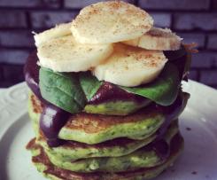 Śniadanie Shreka - twarogowe pancakes ze szpinakiem