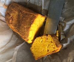 Ciasto dyniowe z boczkiem i serem kozim
