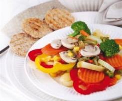 Warzywa na parze z miodem i cytryną