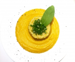 risotto z dynią i szałwią (wegańskie)