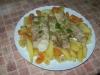 Rybka zapiekana z ziemniakami i dynia