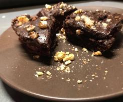 Ciasto buraczane-brownie z malinami
