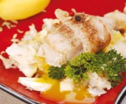 Ryba z koprem włoskim w sosie pomarańczowym