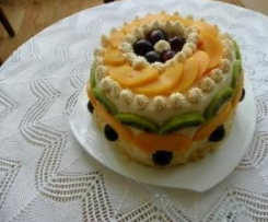 Tort z arbuza bez pieczenia dla dbających o linię