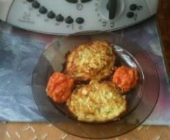 Placuszki z cukini z sosem pomidorowym ;)