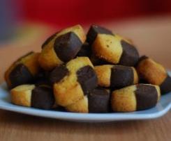 Ciasteczka bankietowe - kakaowo - waniliowe.