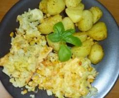 Zapiekany kalafior z ziemniakami :-)