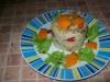 Ryz z warzywami i pomarancza