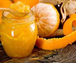 Dżem pomarańczowo jabłkowy z migdałowymi płatkami