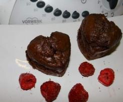 Muffinki czekoladowe z niespodzianką