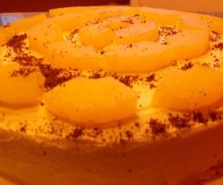 Tort ananasowy z biszkoptem bezglutenowym