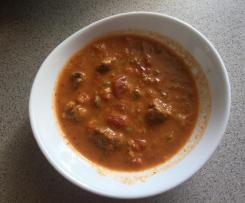 Wariant Zupa gyros (składniki po kolei)