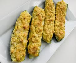 Cukinie z farszem kukurydziano-serowym