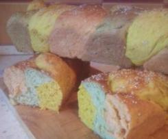 Chleb trójkolorowy