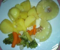 polędwiczki z ananasem na parze