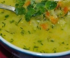 Zupa z kiszonych ogórków