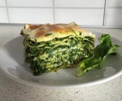 Lasagne ze szpinakiem i wędzonym boczkiem