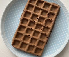 Kakaowe gofry z ciecierzycy (bez cukru, BLW, rozszerzanie diety)