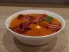 Zupa krem z pomidorów z boczkiem i mozzarellą