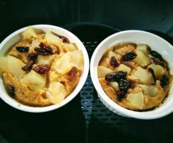 Deser owsiano-jabłkowy gotowany na parze