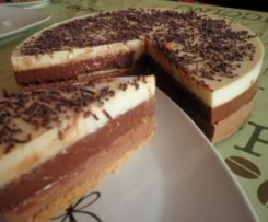 Tort trzy czekolady