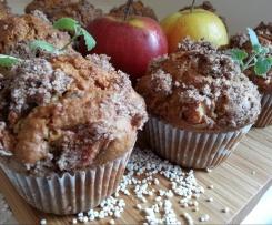 Muffiny jabłkowe pod cynamonową kruszonką