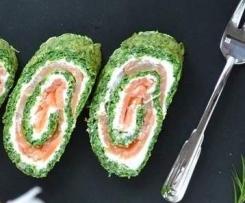 Rolada szpinakowa z łososiem w/g Edki