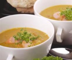 Zupa z soczewicy z kiełbaskami