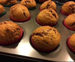 Muffinki (babeczki) bananowe z czekoladą