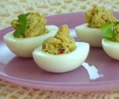 Jajka z pikantnym farszem