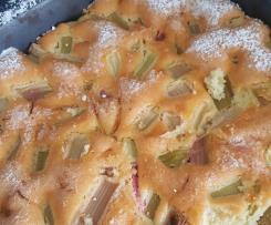 Bezglutenowe ciasto rabarbarowe na majonezie