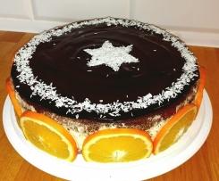 Świąteczny tort pomarańczowo-czekoladowy