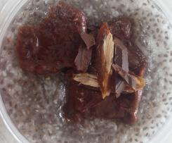 Chia wegańskie z musem czekoladowym