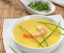 Zupa z owoców morza i dyni