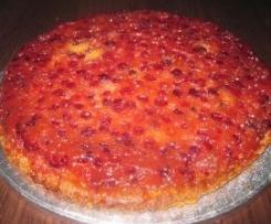 Odwrócone ciasto żurawinowe