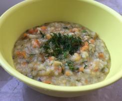 Koperkowa zupka ryżowa dla dzieci (rozszerzanie diety / BLW)