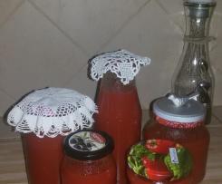 Pomidorowy przecier (sok)