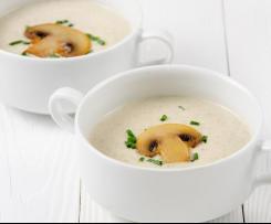 Zupa krem pieczarkowy z makaronem