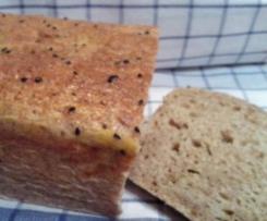 Chlebek na zakwasie z kiszoną kapustą i prażoną cebulką