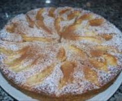 Tort jabłkowy z migdałami