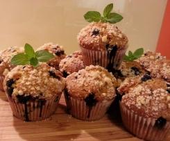 Muffiny kukurydziane z borówkami