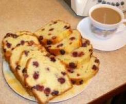 Ciasto cytrynowo-żurawinowe