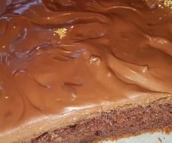 Kefirowe ciasto z polewą czekoladową
